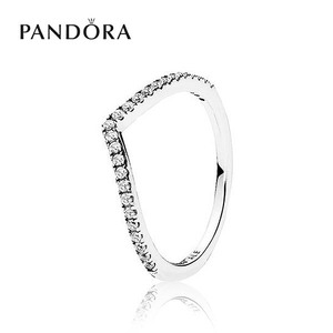 [PANDORA] 판도라 반지 Sparkling Wishbone Ring 196316CZ